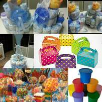 Candy Stations, Party Packs, Diaper Cakes