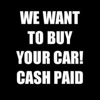 We want to buy your car