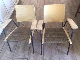 2 x Retro chairs for sale
