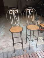 Bar stool, wrought iron