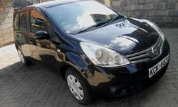 nissan note 1500cc YR 2009 automatic 2WD mileage 49000kms color black