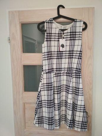 ecacced6ea Sukienka w kratę kratkę czarno biała elegancka carry rozmiar m 38 4036  Bydgoszcz - image 1
