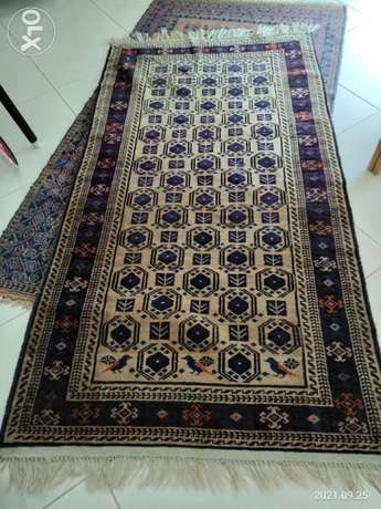 2 Afghani traditional Carpets'. ( 1.80 by 1.20 m )