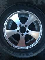 "Aline 14"" mags with tires"