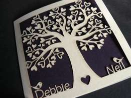 Laser Cut Wedding and Gift Cards