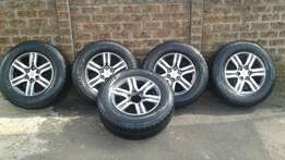 Fortuner Rims and tyres!!(Brand New)
