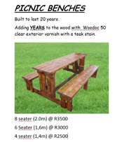 Picnic benches Cheap and Great Quality 3 different sizes.