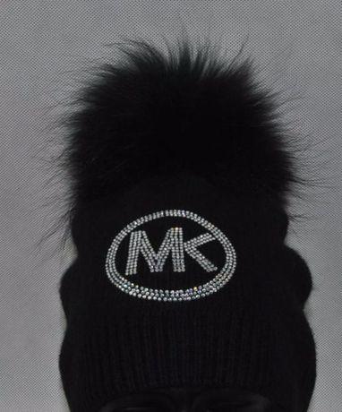 14eaf6bb341dd wełniana czapka biała czarna szara beż cyrkonie logo mk michael kors Wrocław  - image 5