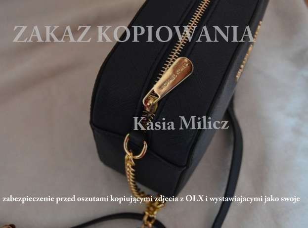 e9042caf6df98 Mała czarna torebka MICHAEL KORS jet set na złotym łańcuchu Milicz - image 2