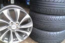 Polo Tyres and Rims 17inch for sale