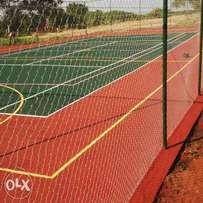Tennis court construction repair and resurfacing