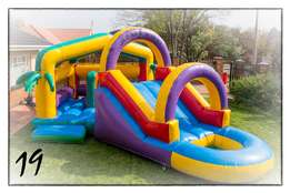 Jumping castles, waterslides, strech tent for hire.