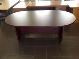 Mahogany finish meeting table