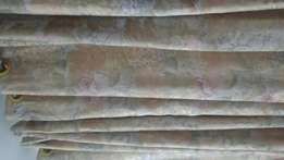 Brocade Peach printed and Baige Curtain with Bage Curtain Lace