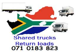 Shared trucks & return loads for long distance