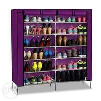 Classy shoe rack that carries 36 pair of shoes
