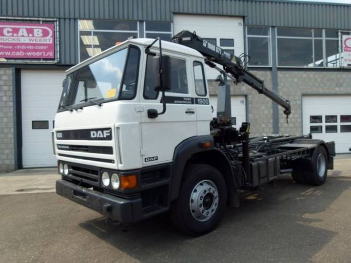 DAF 1900 Turbo Intercooling +hiab 071 Crane - 1992