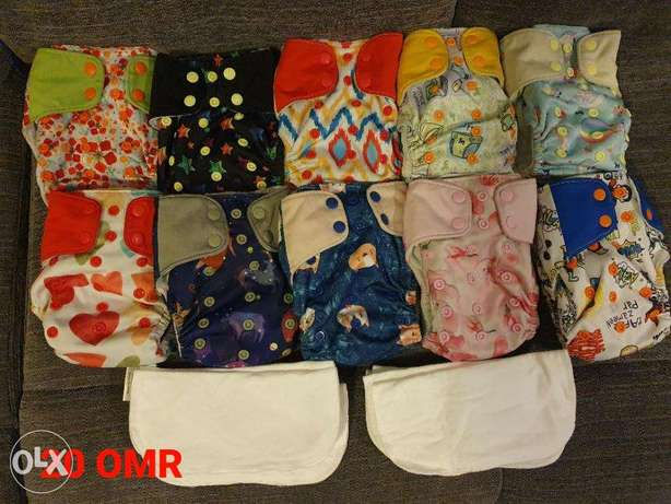 Cloth Diapers (pre loved)- 10 diapers
