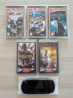 PSP Slim & Lite & 5 x PSP Games For Sale