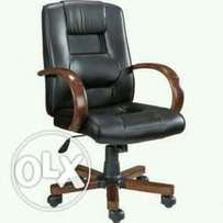 Genuine Leather Office Swivel Chair