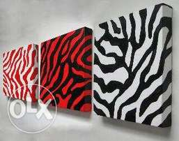 zebra pattern paintings