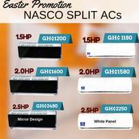 Nasco Air Conditioners 1.5 2.0 2.5 mirror and white panel