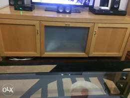 Solid wood TV stand for sale