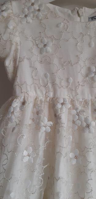 a05a5ea035 Śliczna sukienka MAYORAL plus bolerko 74 chrzest święta Poznań - image 1