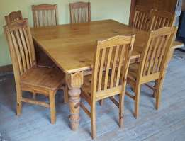 8 Seater square dinning room table