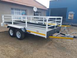 4m Dubble axle trailers on special