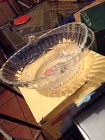 Glass Basket Never Used