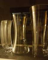 3 x glass vases - R50
