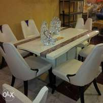 Mable dinning table an chair from Taiwan product cream color