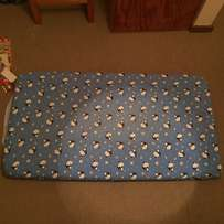 Baby foam mattress with cover, good condition