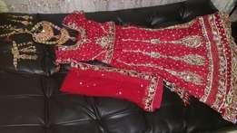 Bridal outfit and jewellery