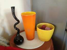 Ceramic and Glass Pots and Vase for Sale!