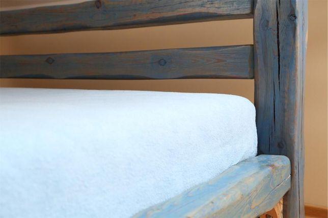 Drewniane łóżko Masywne Z Grubych Belek Na Zamówienie Jedyne