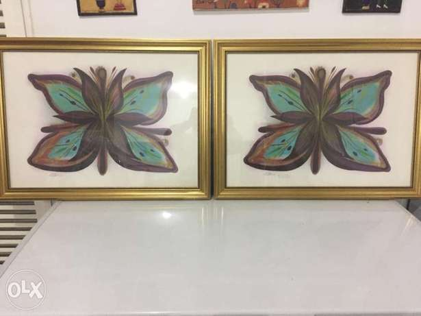 pair of Juliana seraphim paintings بلونة -  2