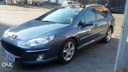 Peugeot 407 SW grey in colour 2007 model