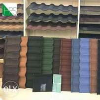 Stone tiles roofing and aluminum roofing.