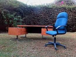 Blue EXECUTIVE Office Chair for Sale!