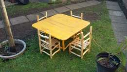 Hand made mini table and chairs (negotiable)