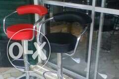 Bar stools red and black or in any kind of color u want