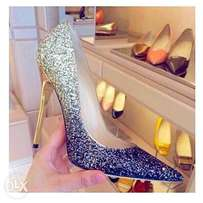 Sexy pointed tow sequined heel