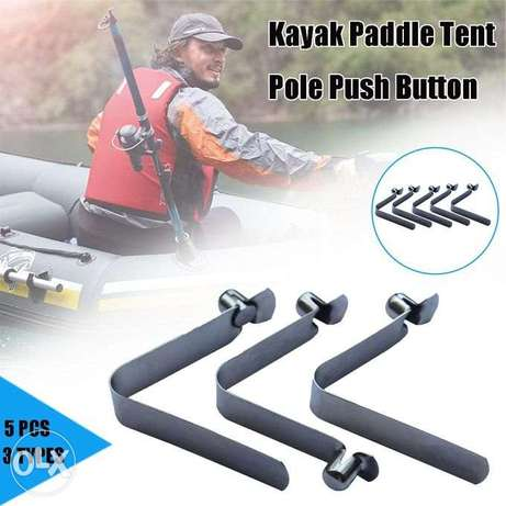 Kayak Paddle Spring Clips Tent Pole Clips Push Button