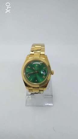 Rolex Day-Date full Gold With Green First Copy 41mm