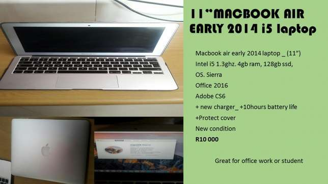 """11"""" macbook air early 2014 i5 laptop Century City - image 1"""