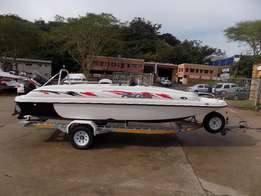 pazazz 20 ft 2017 , wet deck with 175 hp suzuki 4 stroke