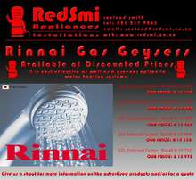 Rinnai Gas Water Heating Systems at Discouted Prices