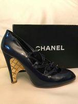 19625e67a4289 CHANEL GOLD HEEL RUNWAY $850 - Luksusowe buty ! %%